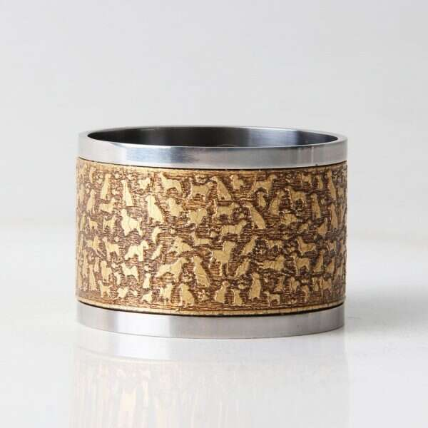 'Rover' Napkin Rings in Antique Gold by Forwood Design 5