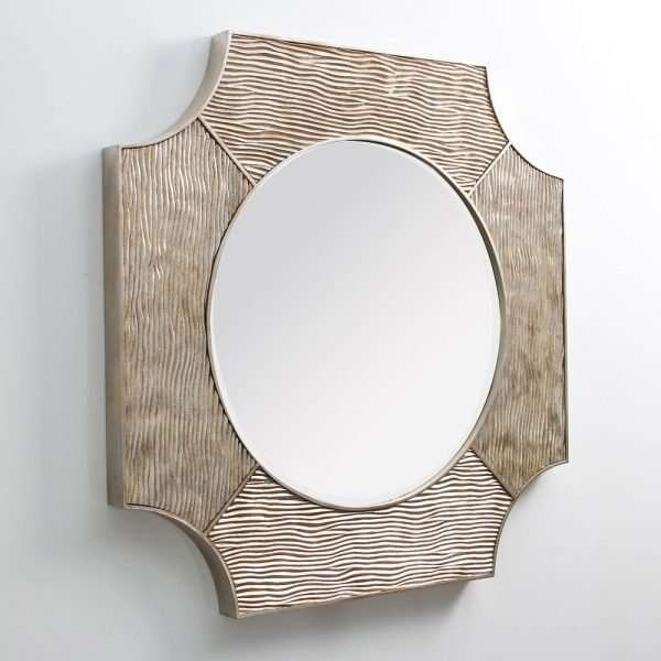 Lucas Wall Mirror in Antique Silver by Forwood Design 4