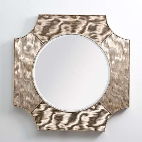 Lucas Wall Mirror in Antique Silver by Forwood Design 2