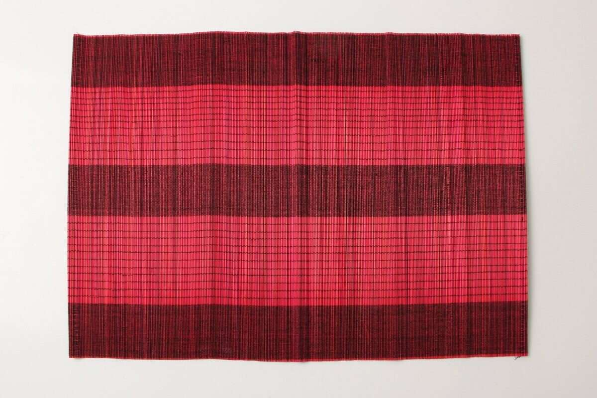 Crimson Red Bamboo Placemats 3