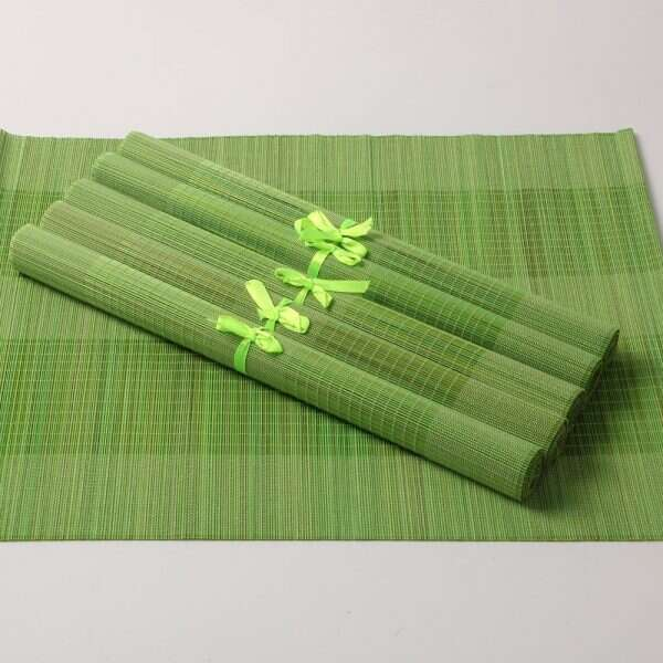 Bamboo Placemats in Lime Green 2