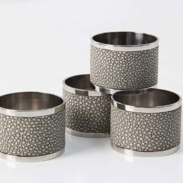 Napkin rings in Barley Shagreen by Forwood Design 1