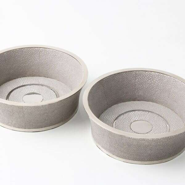 Wine Coaster in Barley Shagreen by Forwood Design 5
