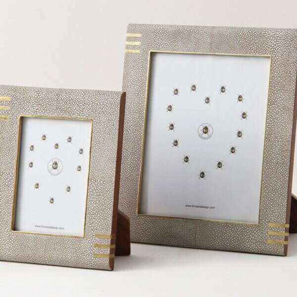 Christie Photo Frame in Barley Shagreen by Forwood Design 2
