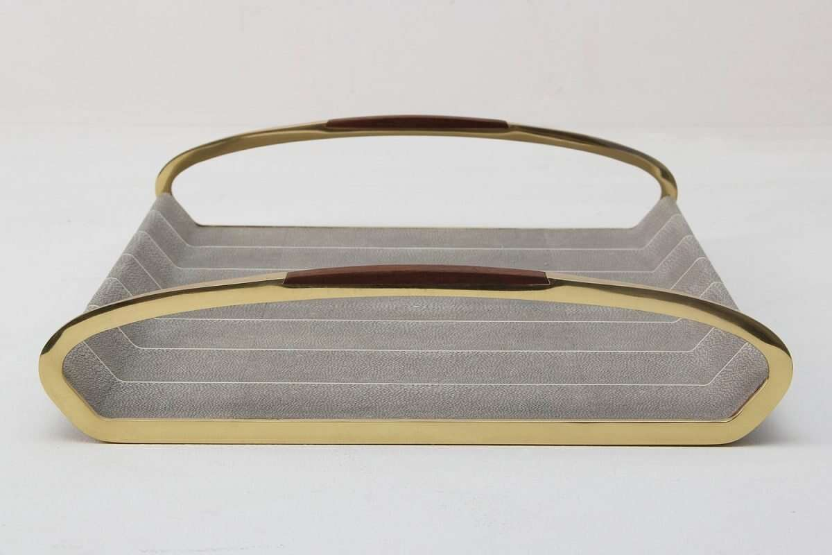 Jules Drinks Trays in Barley Shagreen by Forwood Design 5
