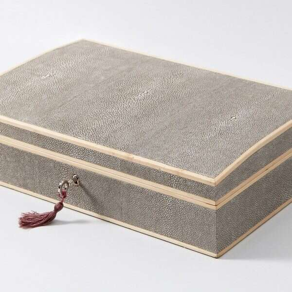 Avalon Jewelry Box in Barley Shagreen by Forwood Design 5