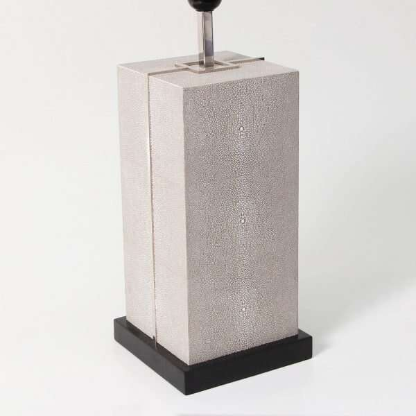 Laken Table Lamp in Barley Shagreen by Forwood Design 5