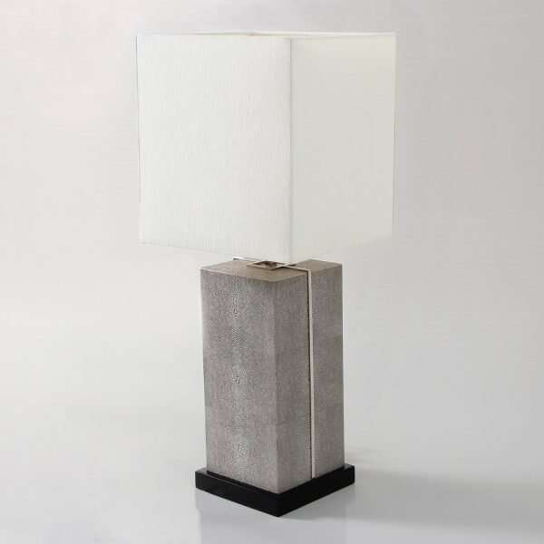 Laken Table Lamp in Barley Shagreen by Forwood Design 4