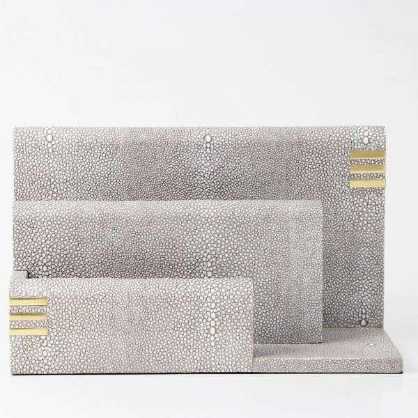 Christie Letter Rack in Barley Shagreen by Forwood Design 5