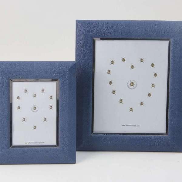 Bella Photo Frames in Nile Blue Shagreen by Forwood Design 5