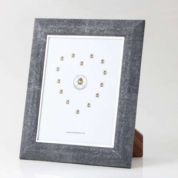 Bella Photo Frame in Charcoal Shagreen by Forwood Design 5
