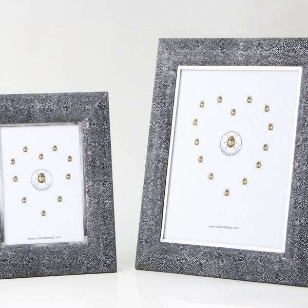 Bella Photo Frame in Charcoal Shagreen by Forwood Design 3