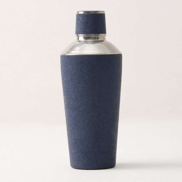 Cocktail Shaker in Nile Blue Shagreen by Forwood Design 6