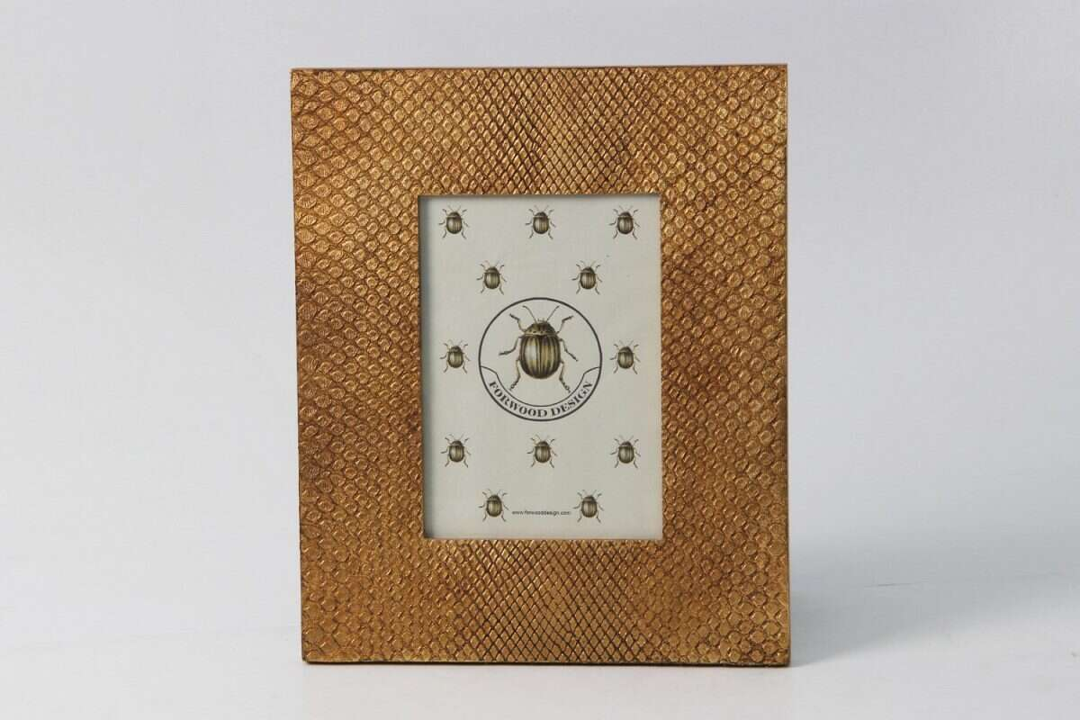 Photo Frame in Antique Gold Boa by Forwood design 6