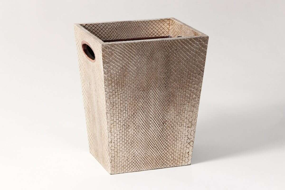 Waste Bin in Boa Antique Silver by Forwood Design 5