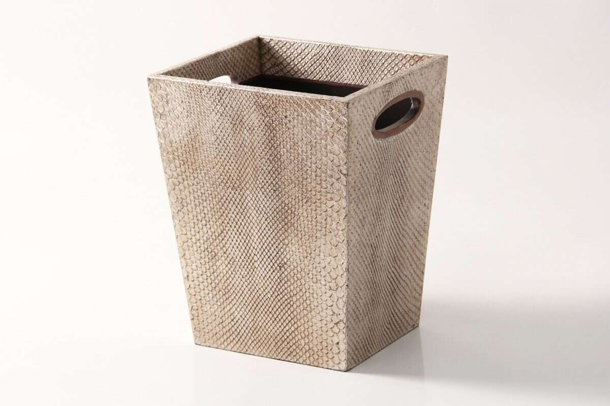 Waste Bin in Boa Antique Silver by Forwood Design 4