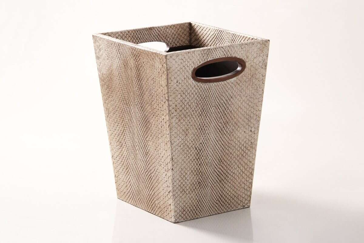 Waste Bin in Boa Antique Silver by Forwood Design 3