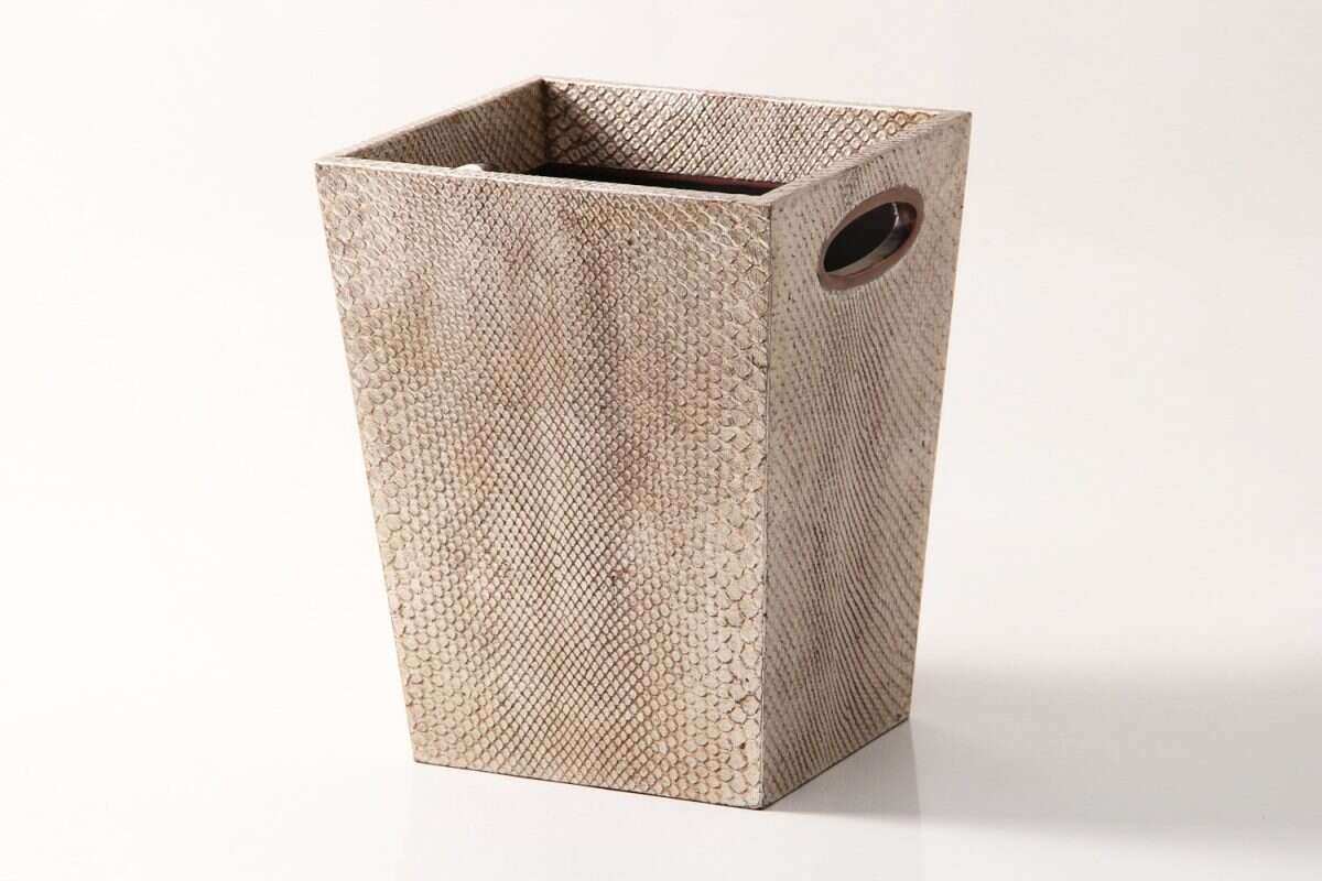 Waste Bin in Boa Antique Silver by Forwood Design 2