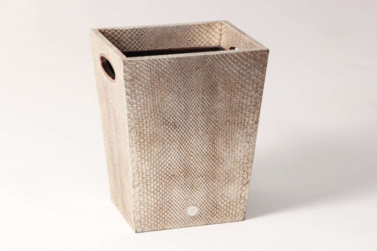 Waste Bin in Boa Antique Silver by Forwood Design 1