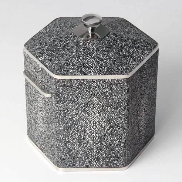Ice Bucket in Charcoal Shagreen by Forwood Design 1