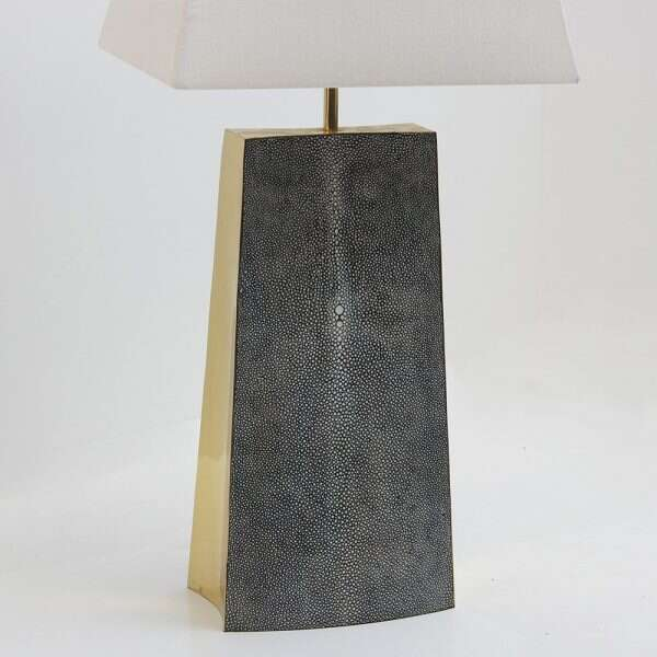 Madison Table Lamp in Charcoal Shagreen by Forwood Design 4