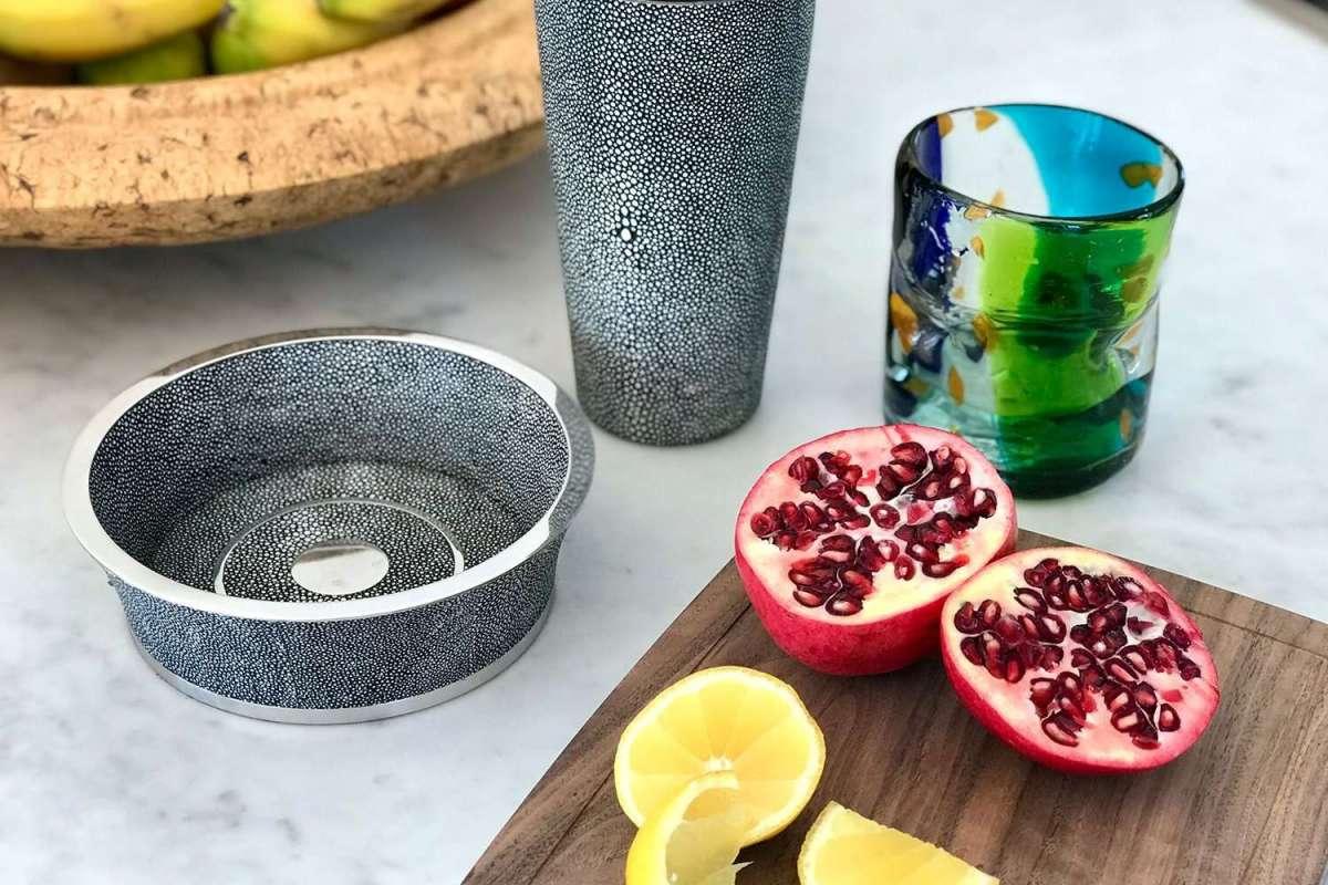 Wine coaster on kitchen table