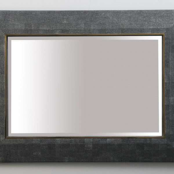 Henry Mirror in CharcoalShagreen by Forwood Design 4