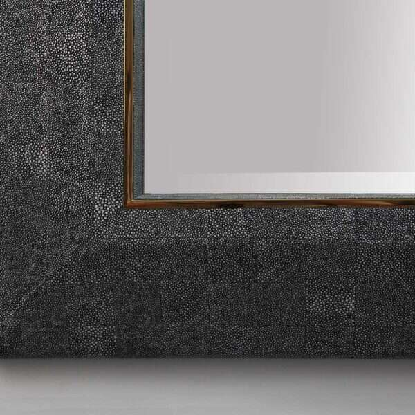 Henry Mirror in CharcoalShagreen by Forwood Design 2