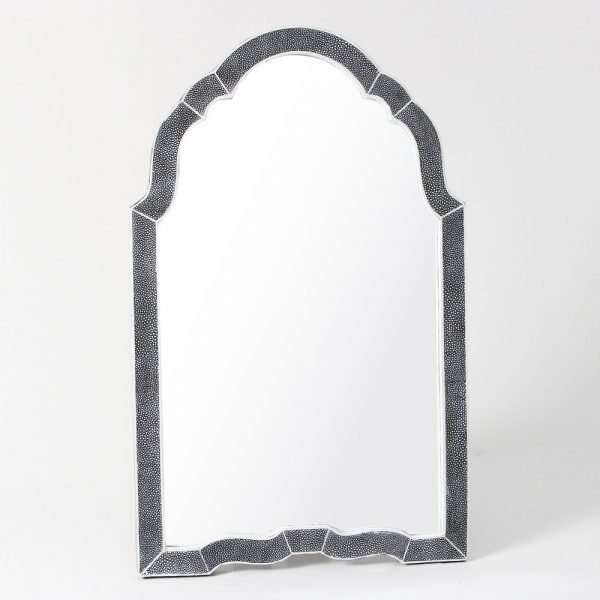 Arden Dressing Table Mirror in Charcoal Shagreen by Forwood Design 5