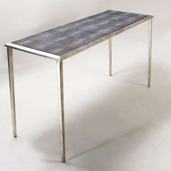 Clare Shagreen Console Table in charcoal 5