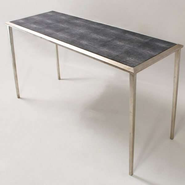 Clare Shagreen Console Table in charcoal 3