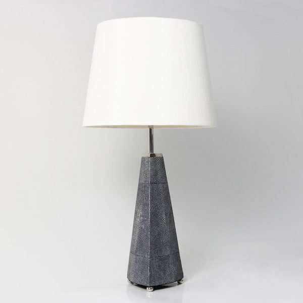 Steeple Table Lamp in Charcoal Shagreen by Forwood Design 2
