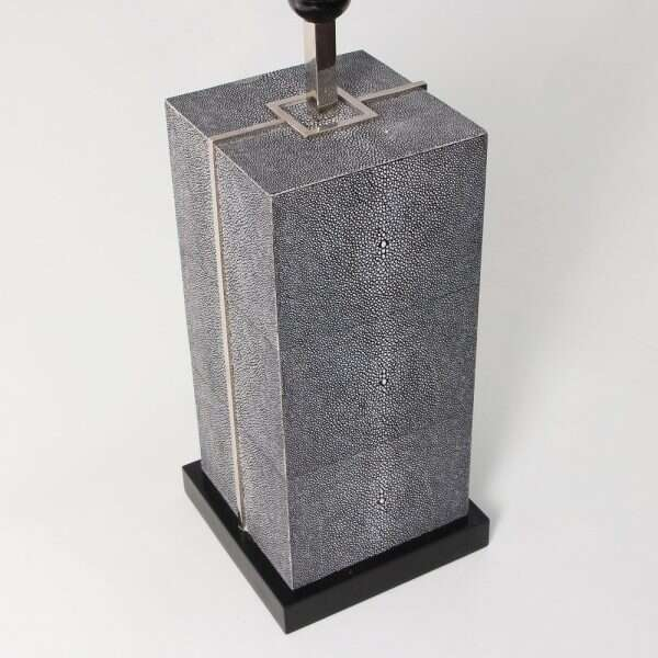Laken Table Lamp in Charcoal Shagreen by Forwood Design 5