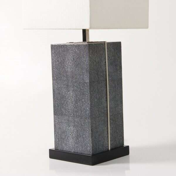 Laken Table Lamp in Charcoal Shagreen by Forwood Design 4