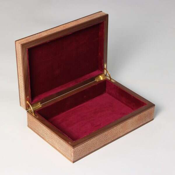 Jewellery Treasure Box in Coral Shagreen by Forwood Design 5