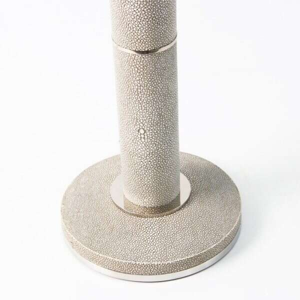 Diss Column Table Lamp in Barley Shagreen by Forwood Desi4gn