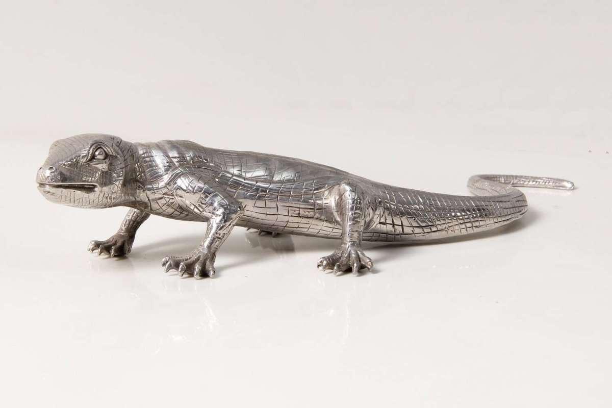Eddie Lizard stainless steel table sculpture 2