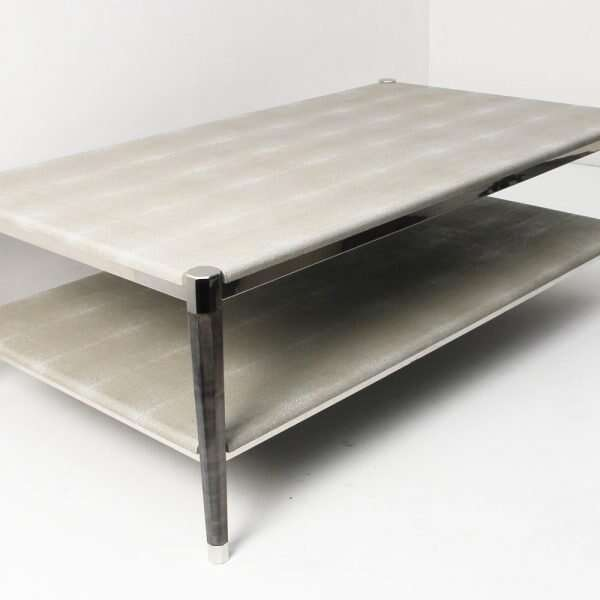 Fitz Coffee Table in Barley Shagreen by Forwood Design 2