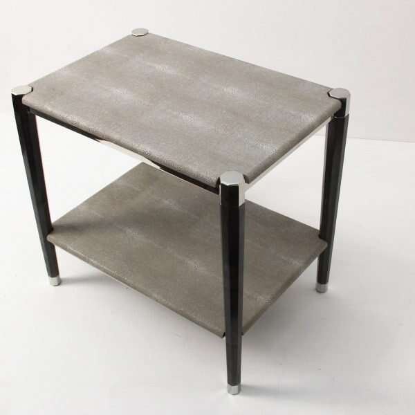 Fitz Side Table in Barley Shagreen by Forwood Design 6