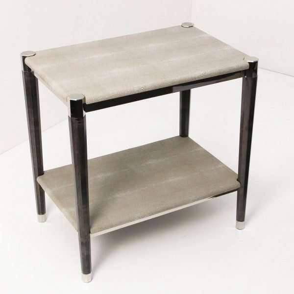 Fitz Side Table in Barley Shagreen by Forwood Design 2