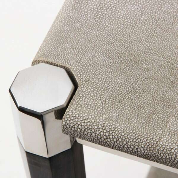 Fitz Side Table in Barley Shagreen by Forwood Design 1
