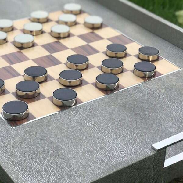 Games Tray in Barley Shagreen by Forwood Design 1