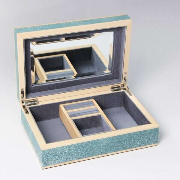 Ansley Jewellery Box in Teal 5