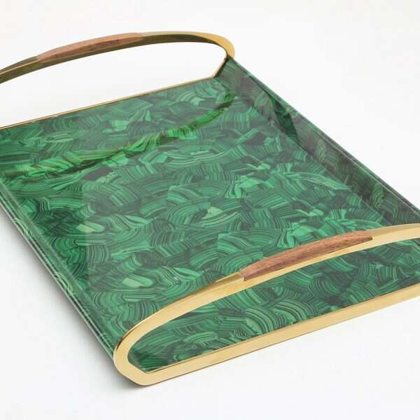 Jules Drinks Tray in Malachite by Forwood Design 7