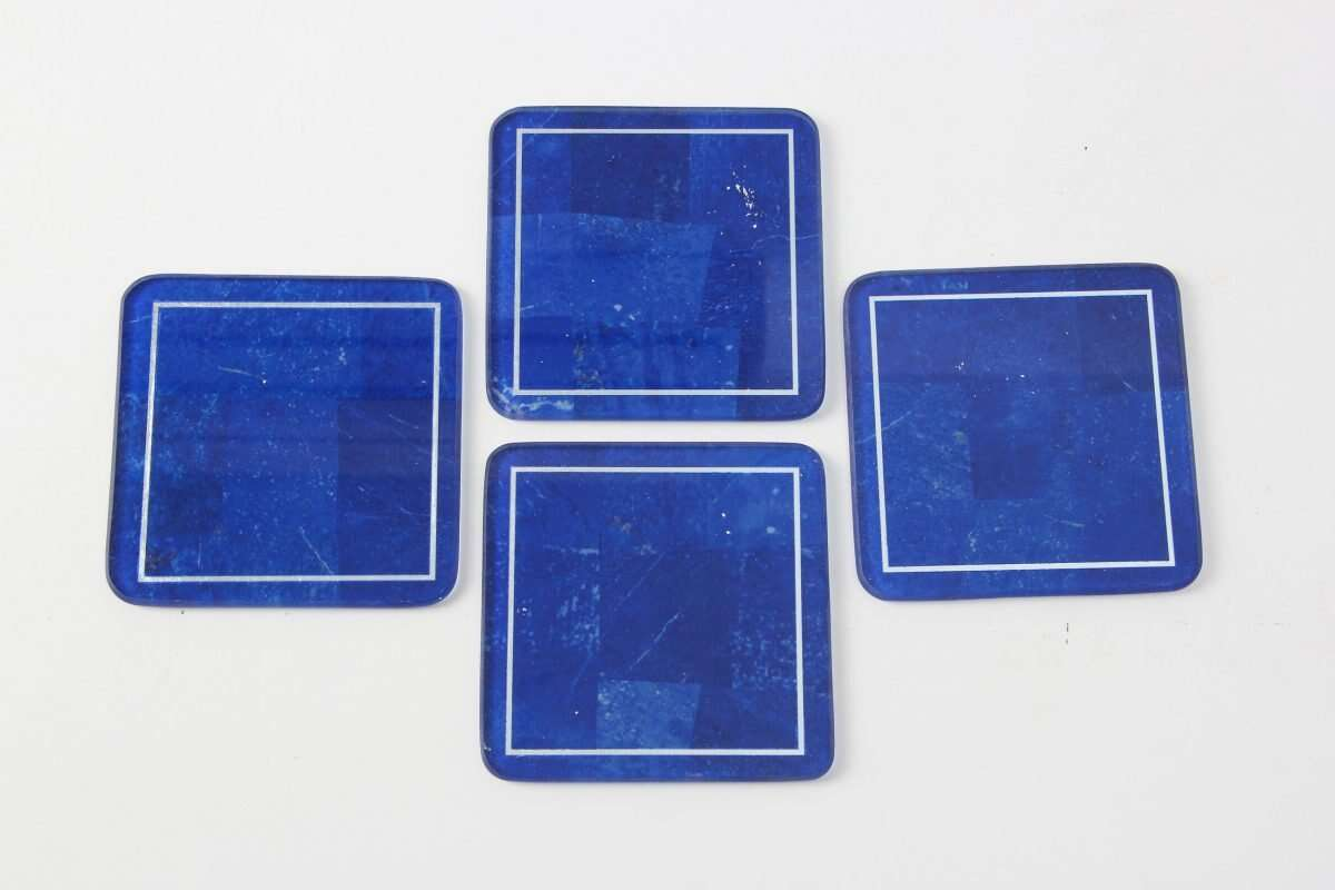 Lapis Lazuli Drinks Coasters by Forwood Design 4