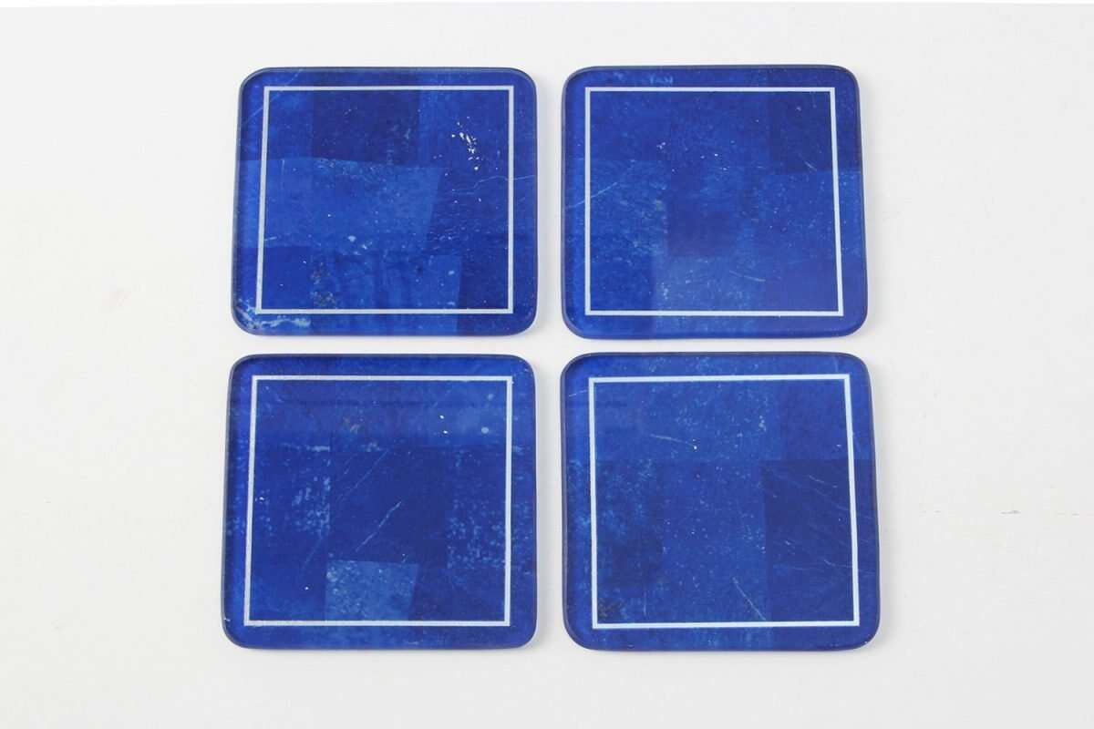 Lapis Lazuli Drinks Coasters by Forwood Design 3