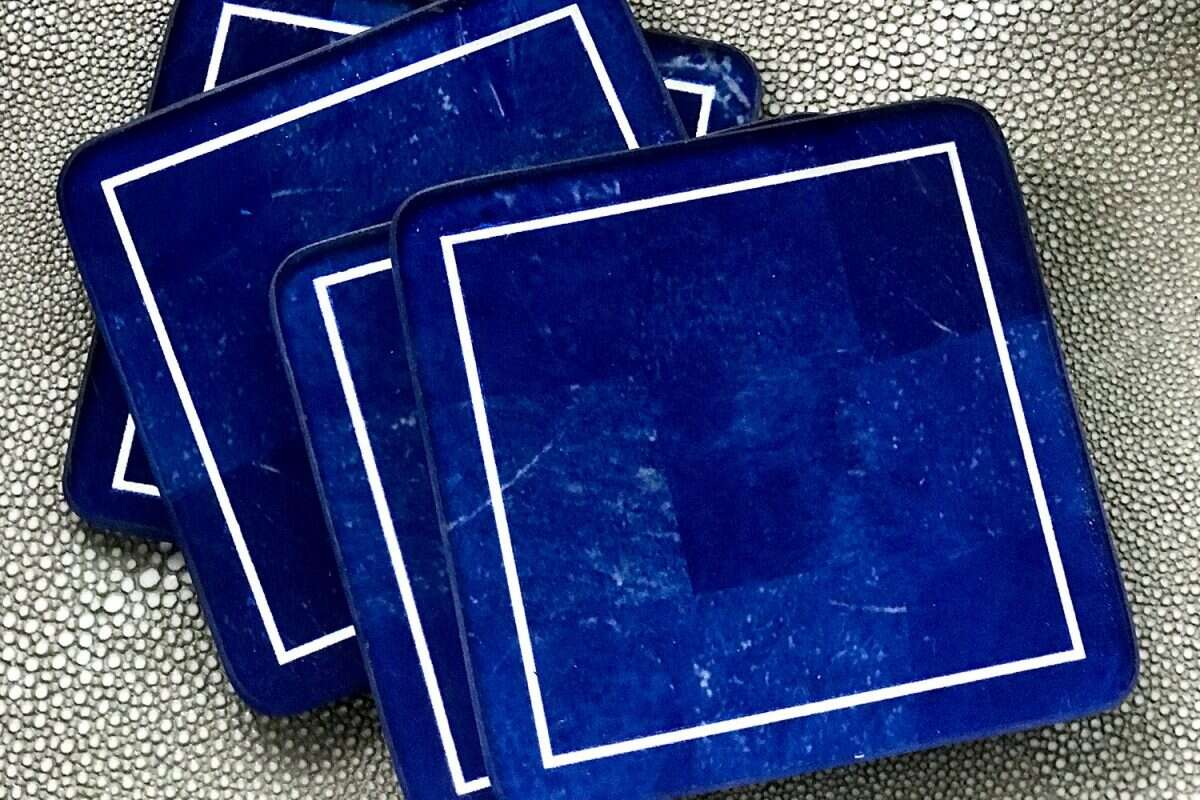 Lapis Lazuli Drinks Coasters by Forwood Design 2