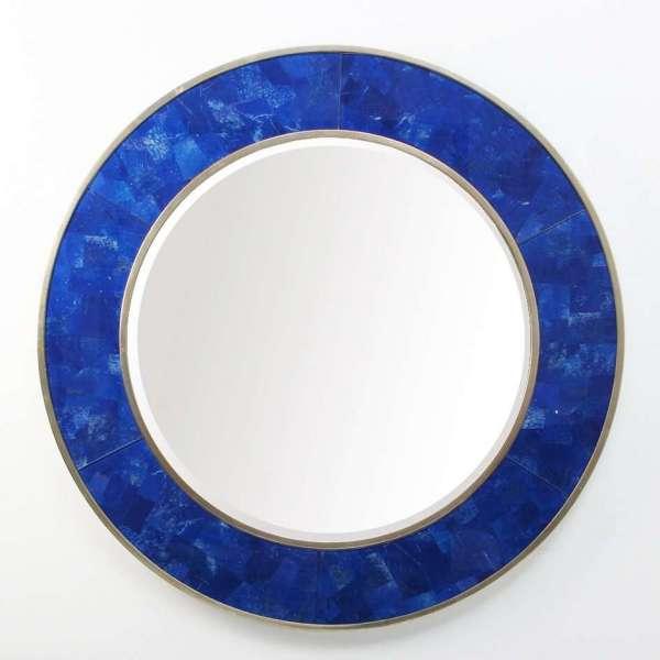 Lapis Lazuli Round Mirror by Forwood Design 3