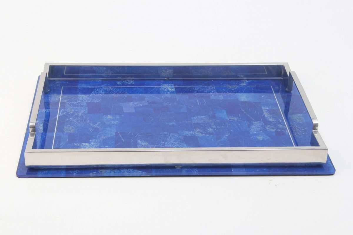Lapis Lazuli Drinks Tray by Forwood Design 6