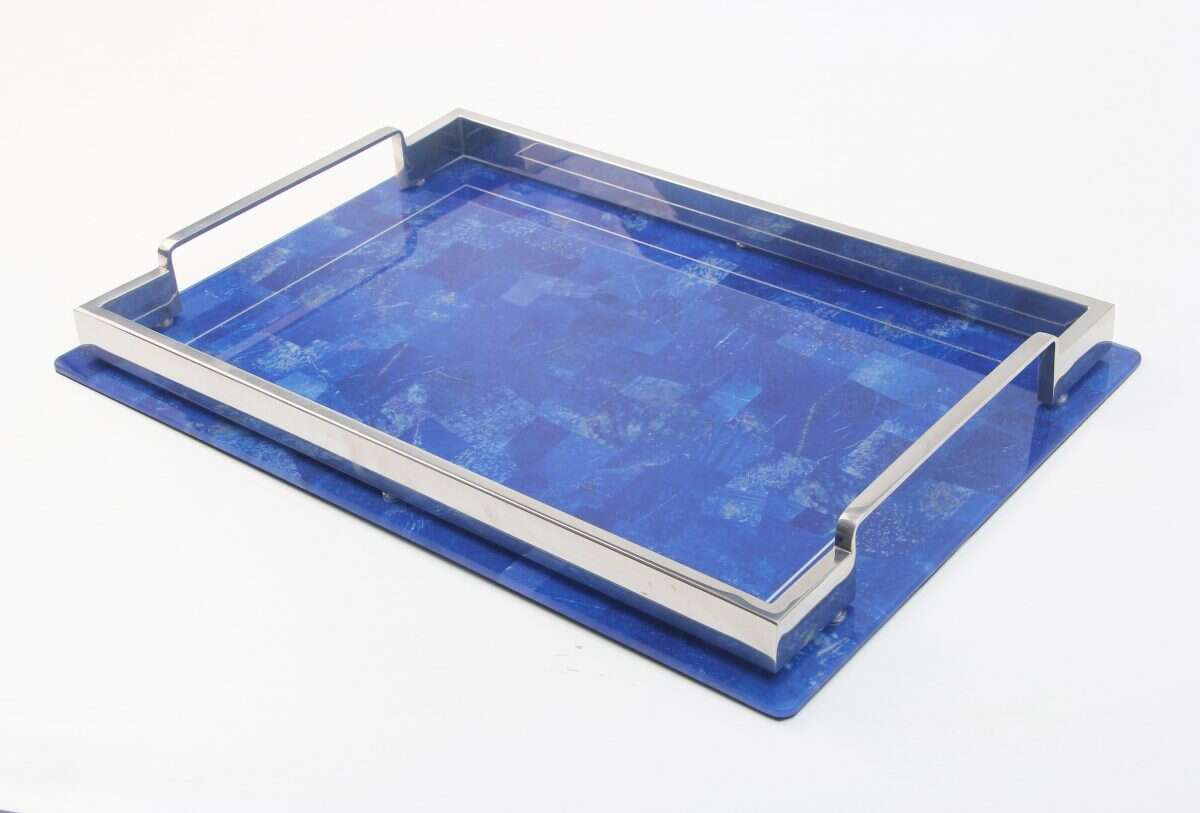 Lapis Lazuli Drinks Tray by Forwood Design 5